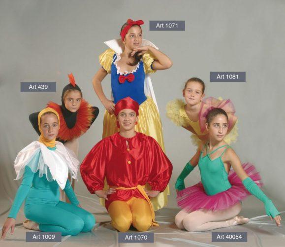 Costumi Biancaneve mod. 1009 - 1070 - 1071 - 40054