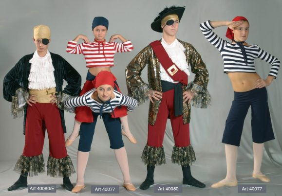Costumi Pirati mod. 40080e - 40077 - 40080
